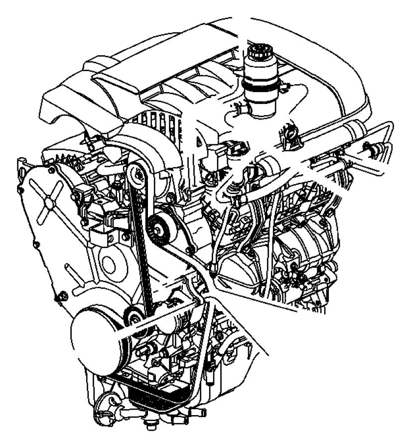 2008 Chrysler Pacifica Line. Power steering return. Hoses