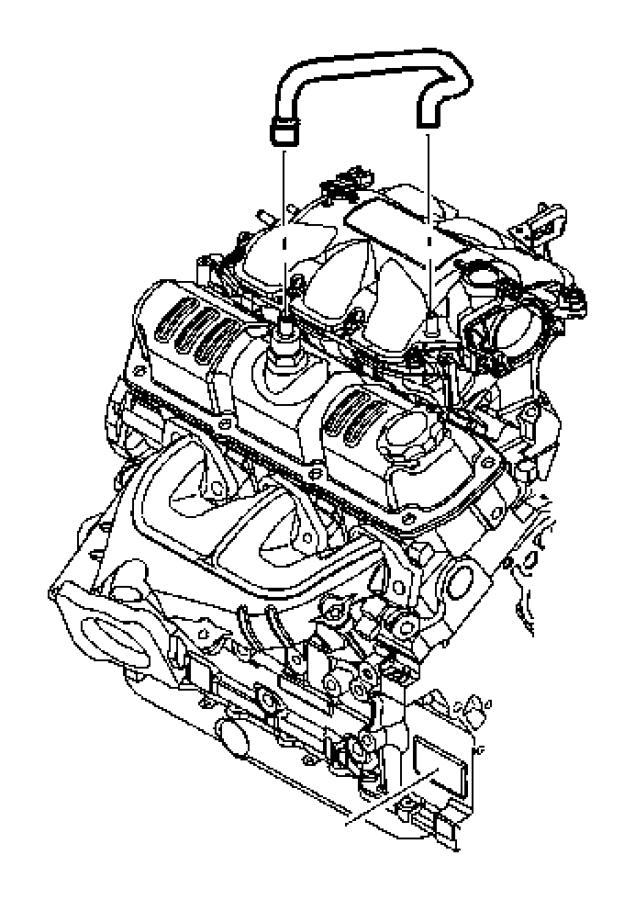Jeep Wrangler Hose. Pcv, pcv tube. Pcv valve to intake
