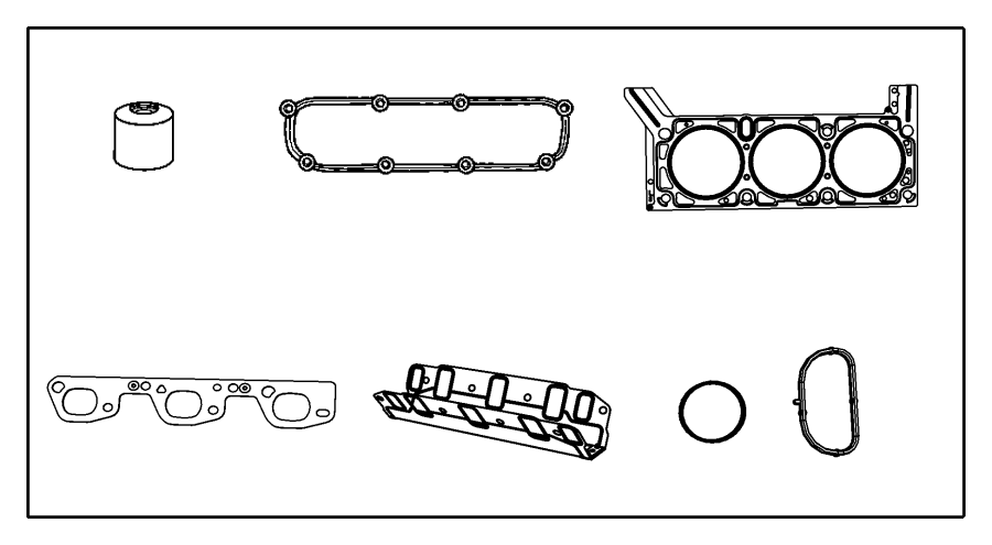 Jeep Wrangler Gasket kit. Engine. Upper. Module, complete