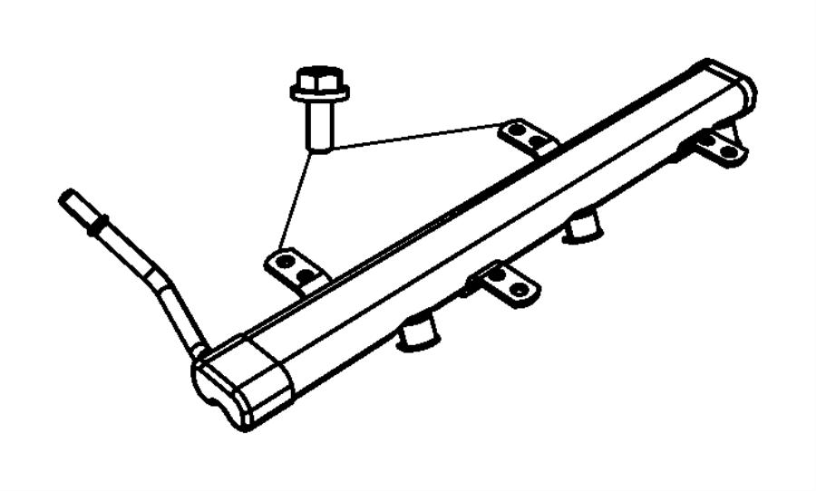 2007 Jeep Wrangler Rail. Fuel. Intake, manifold, lower