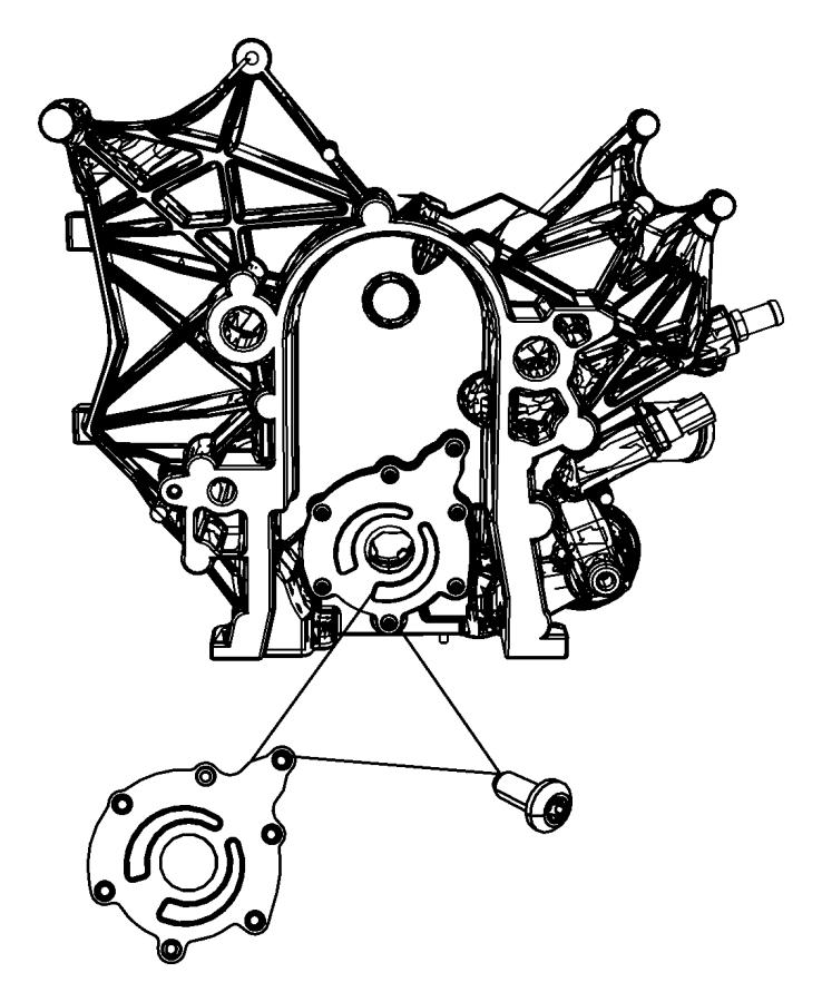 Jeep Wrangler Cover. Engine oil pump. Oiling, egt