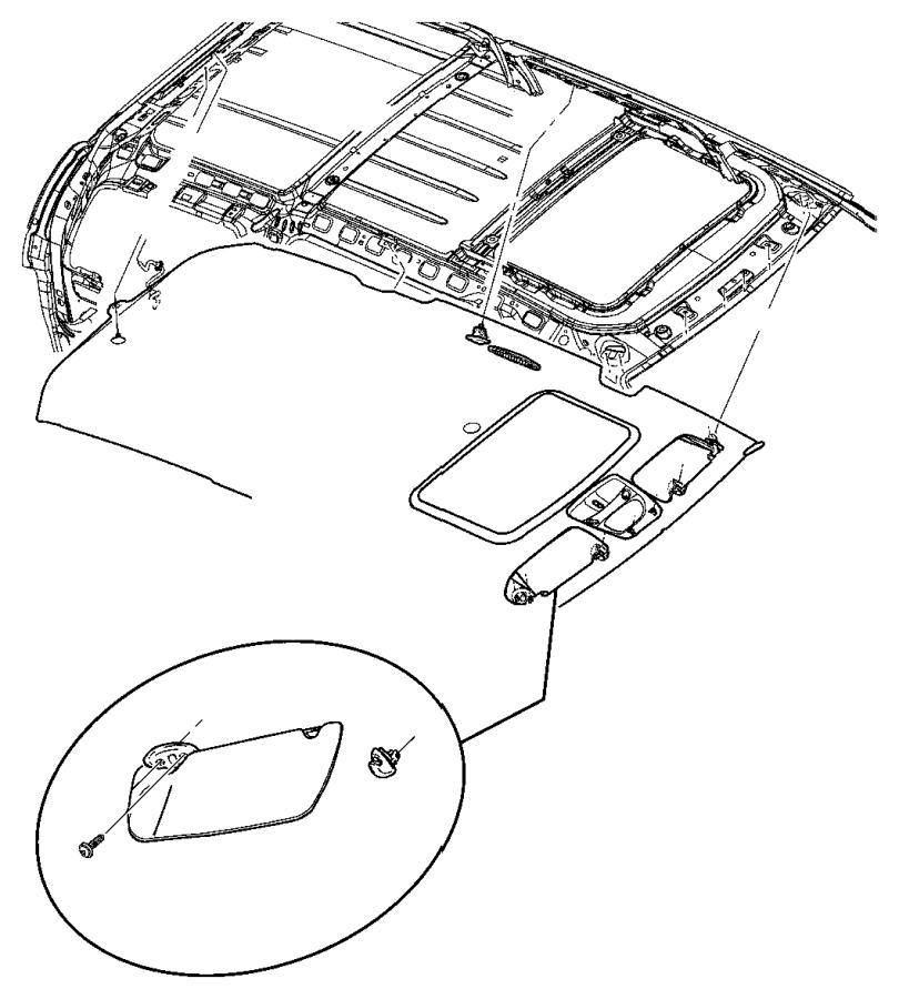 2007 Chrysler Aspen Support. Visor. Trim: [all trim codes