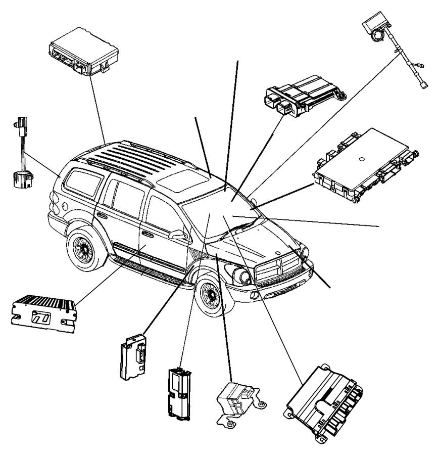 2007 Dodge Durango Module. Anti-lock brakes. Modules