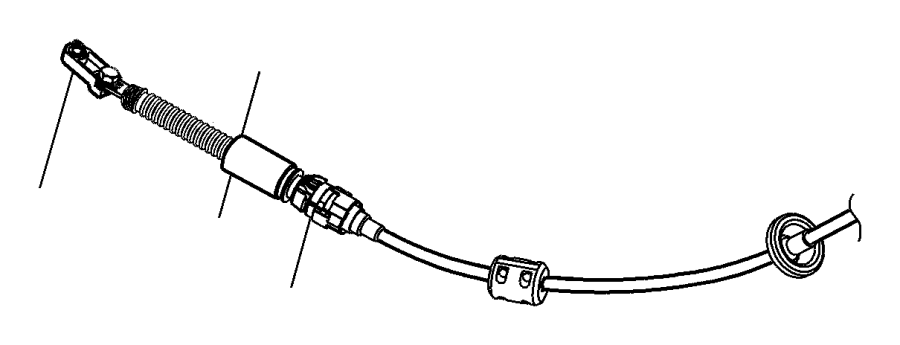 2007 Chrysler Pacifica Cable, cable assy. Shift, shifter