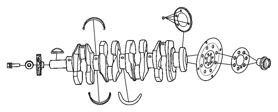 Jeep Patriot Flexplate, plate. Torque converter drive