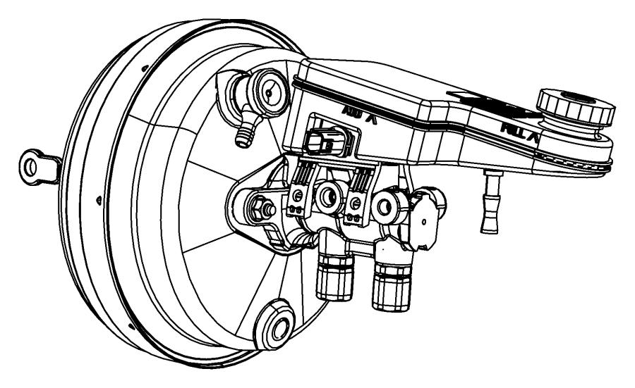 Jeep Wrangler Valve. Brake booster check. Mounting. [anti