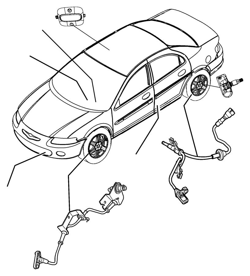 2010 Jeep Wrangler Sensor. Intrusion module. Export