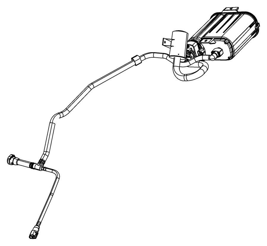 2008 Chrysler Sebring Hose. Canister to vapor line