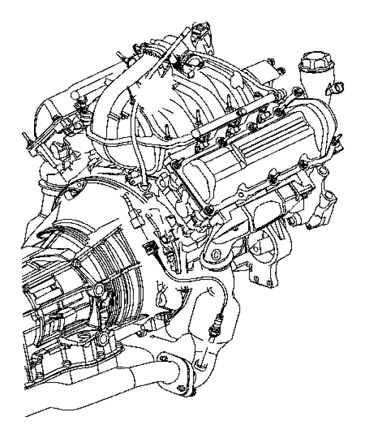 Jeep Liberty Bracket. Oxygen sensor. Transmission wiring