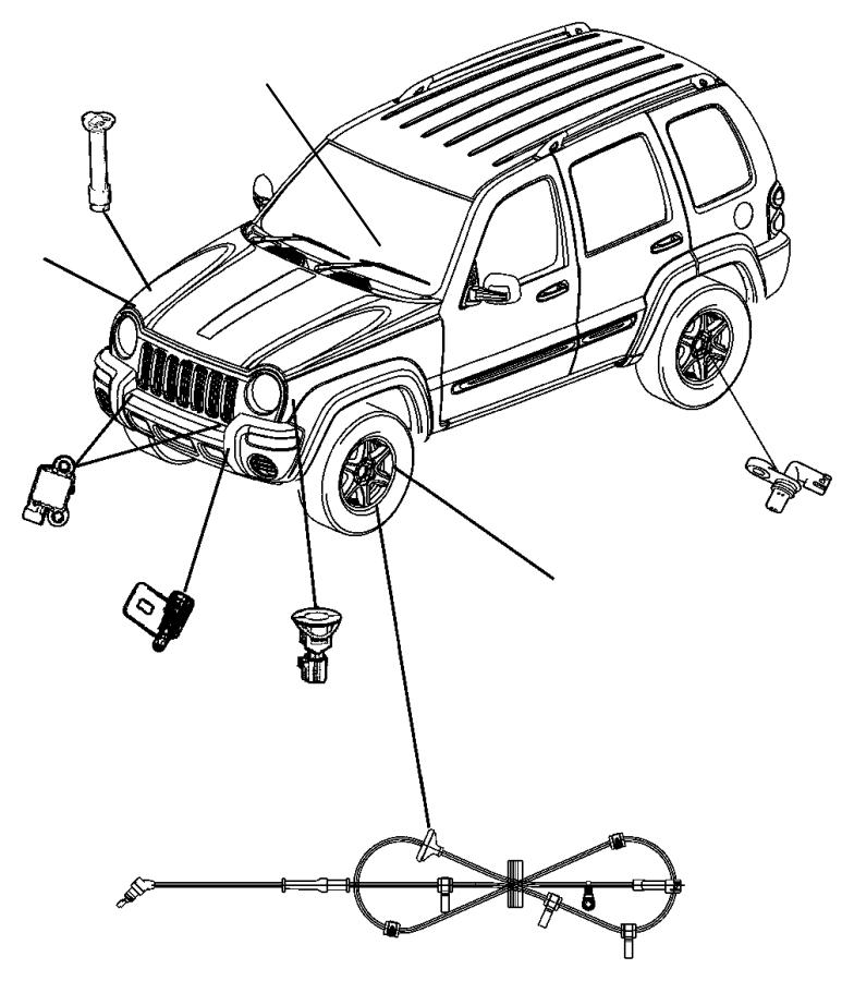 2006 Jeep Liberty Sensor. Wheel speed. Axle, rear, ratio