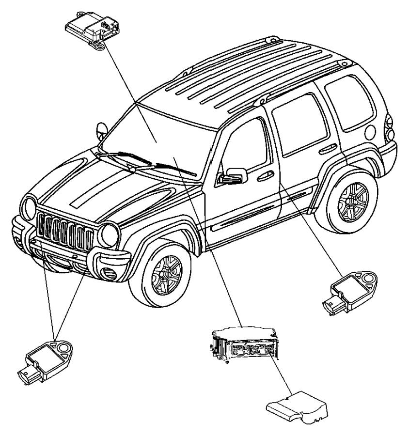 2006 Jeep Liberty Module. Occupant classification. Trim