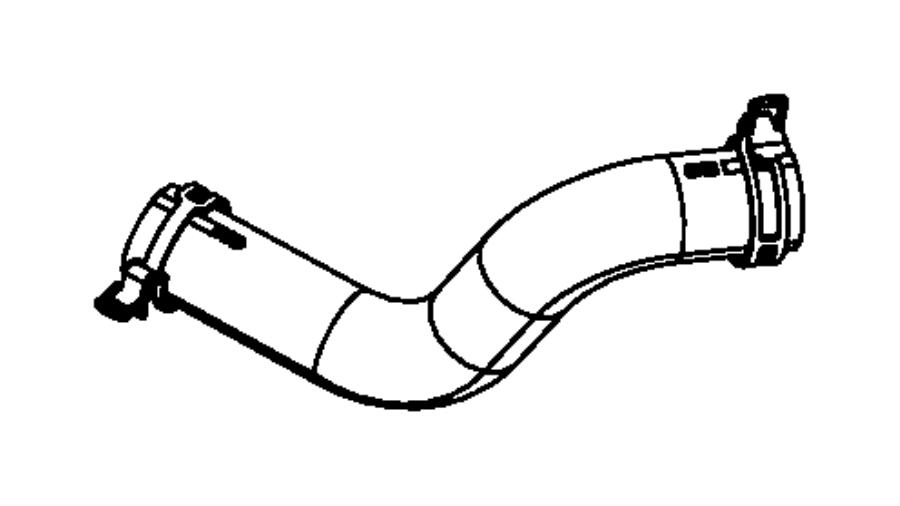 2007 Dodge NITRO Hose. Radiator inlet. Connects to