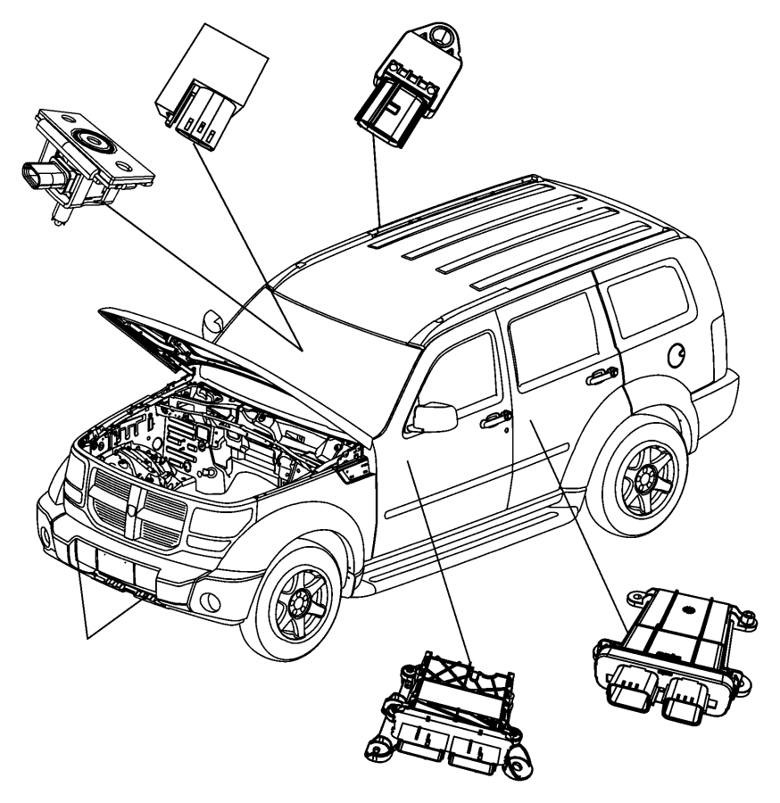 Dodge NITRO Module. Occupant restraint. Air, bags, bag