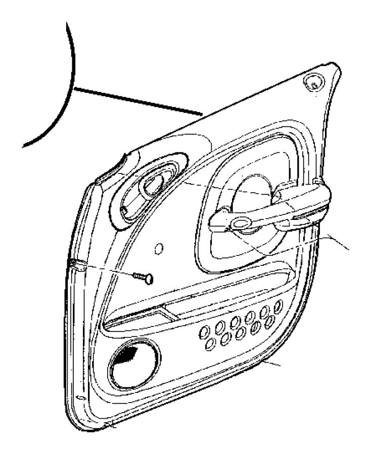 Chrysler PT Cruiser Handle. Door interior, inside remote