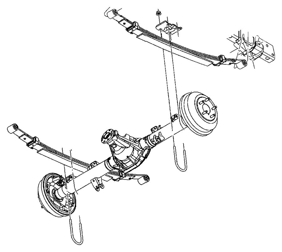 Dodge Dakota U-bolt. [corporate 8.25 rear axle]. Dra