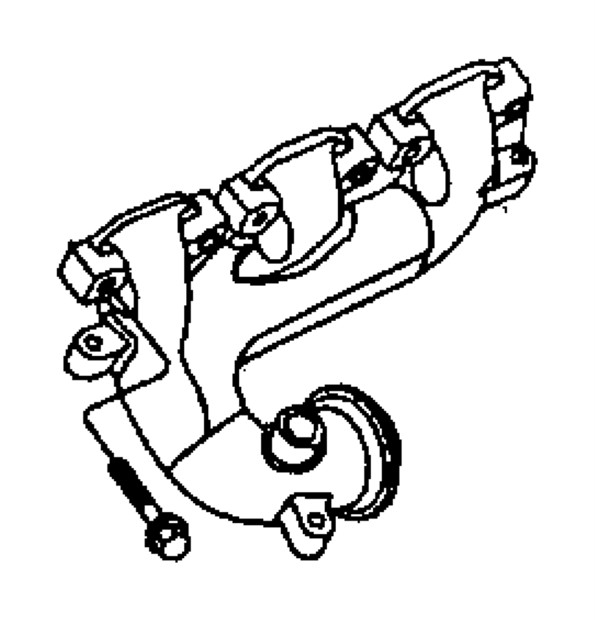 Dodge Charger Shield. Exhaust manifold. Lower, lower right