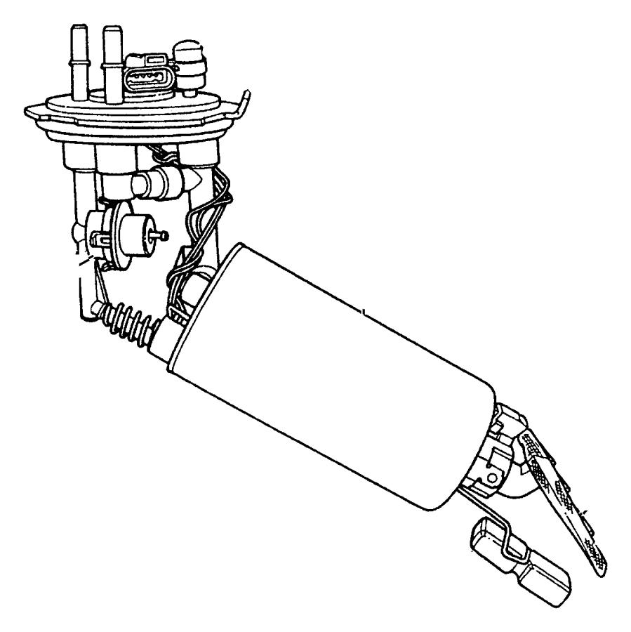 2007 Chrysler PT Cruiser Module. Fuel pump/level unit