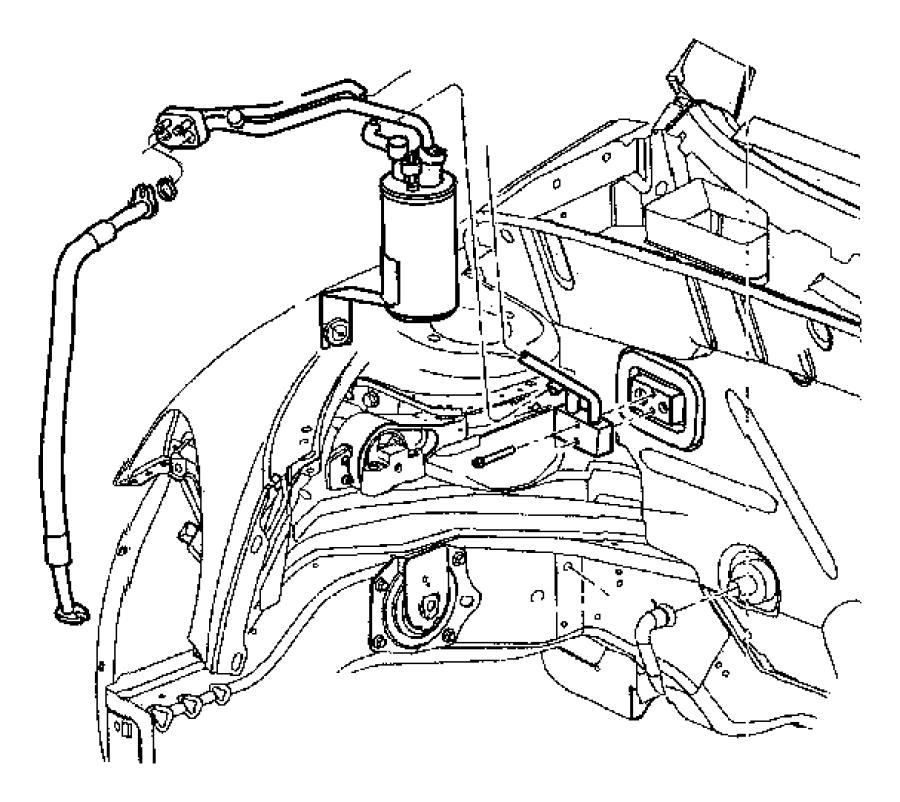 1999 Chrysler Concorde Gasket. Valve to evaporator