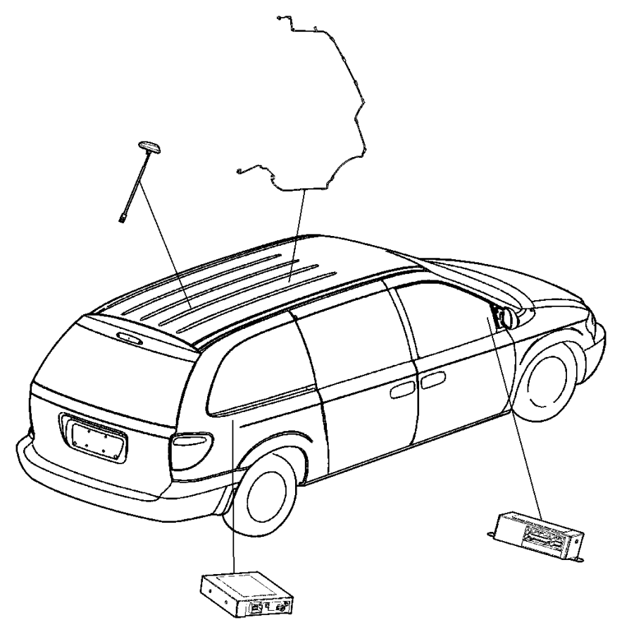 2006 Dodge Grand Caravan Receiver. Satellite. [sirius