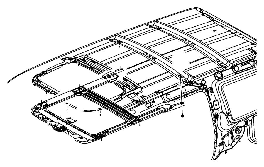 2008 Dodge NITRO Glass. Sunroof. Trim: [all trim codes