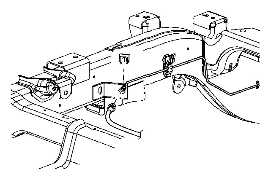 2007 Dodge Dakota Tube. Brake. Chassis. Rear, junction