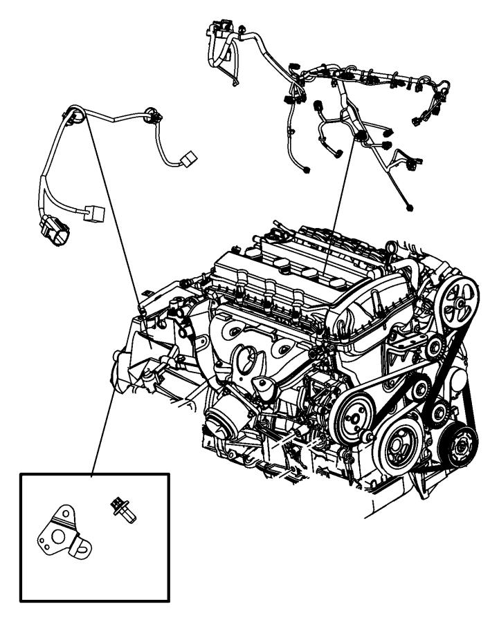 2007 Dodge Charger Screw. Hex head. M8x1.25x16.00