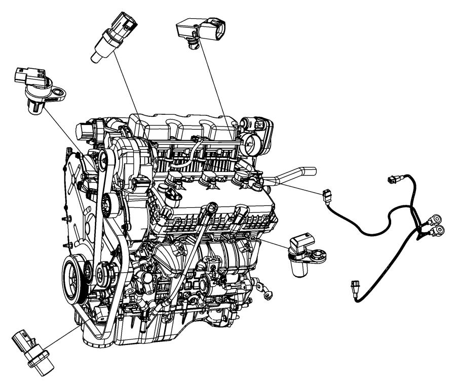2009 Dodge Challenger Sensor. Camshaft. [[electronic gas