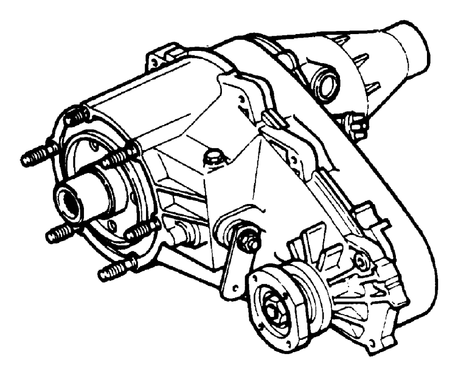 Dodge Dakota T/case. Nv233. Transfer, time, shift
