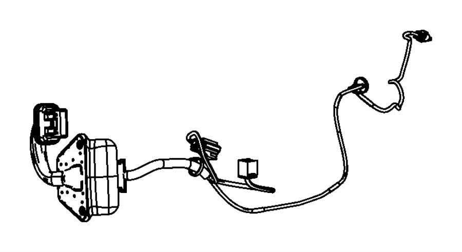 Dodge Avenger Wiring. Rear door. Right or left