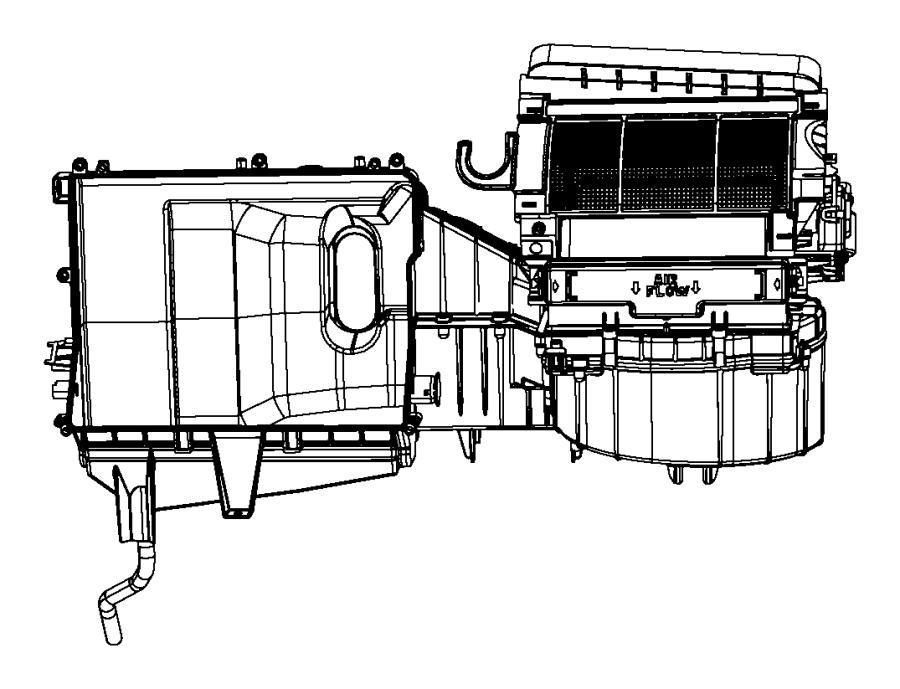 2012 Dodge Avenger Housing. Blower motor. Conditioning
