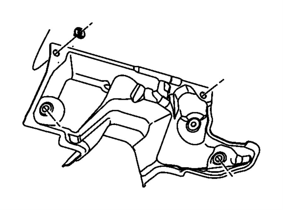 2009 Chrysler Sebring Silencer. Dash panel. Silencers
