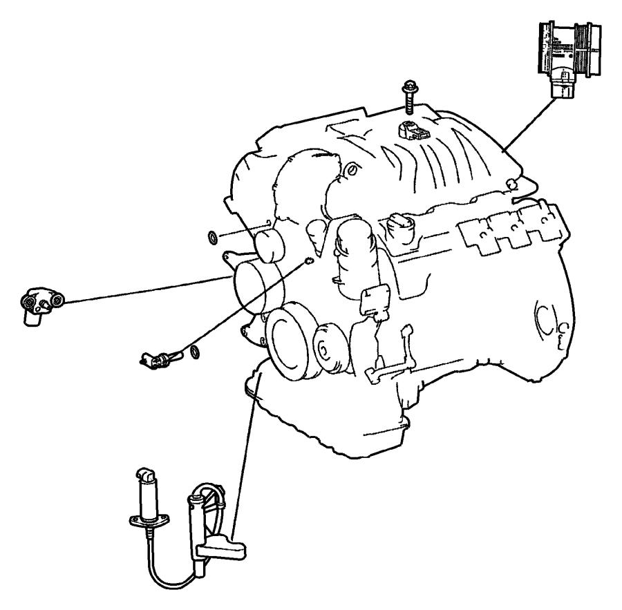 Jeep Patriot Sensor. Air pressure, map. Right. Merecedes