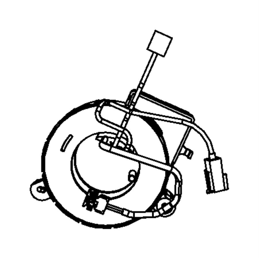 2010 Chrysler Sebring Clockspring. Steering column control