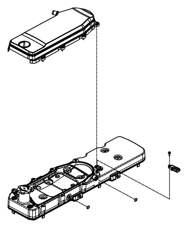 2008 Dodge Ram 4500 Cover. Crankcase breather. Emissions
