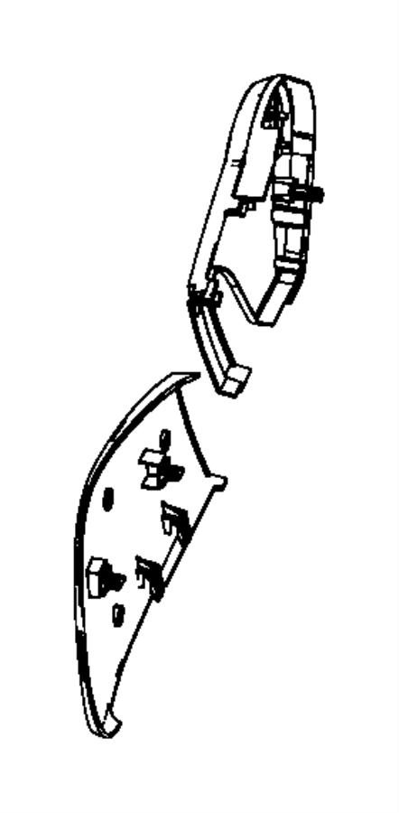 Chrysler PT Cruiser Shield. Driver outboard, seat. Rear