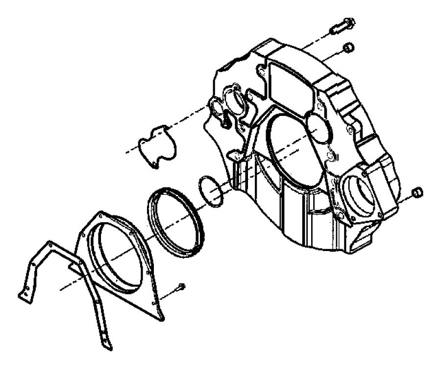 Ram 3500 Housing, retainer. Crankshaft rear oil seal, rear