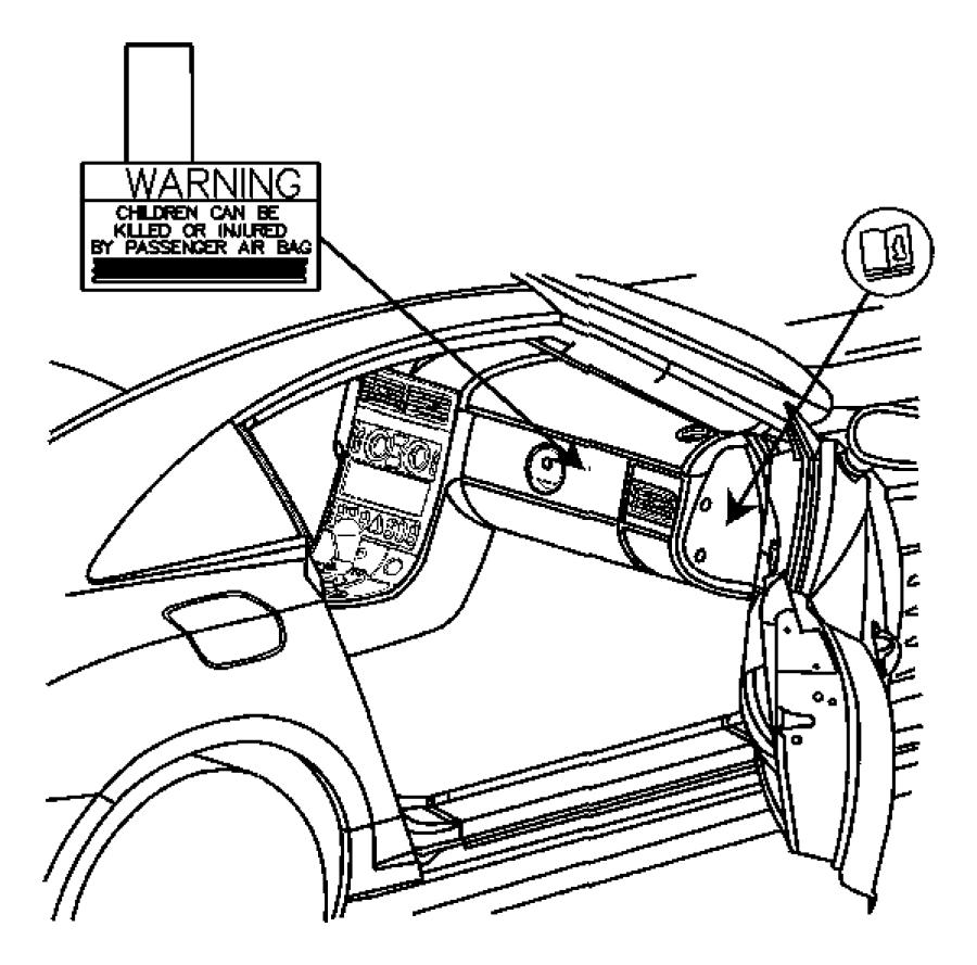 Chrysler Crossfire Label. Washer reservoir, engl/french