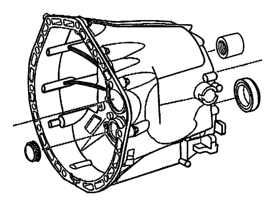 2006 Chrysler Crossfire Case. Transmission. Front, clutch