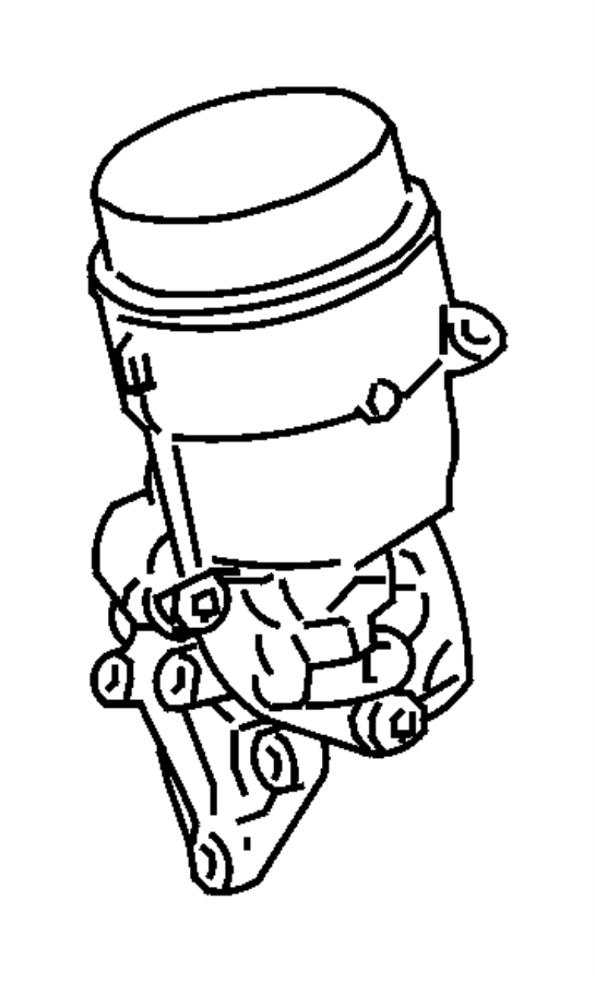 2008 Dodge Sprinter 2500 Adapter. Oil filter. Engine