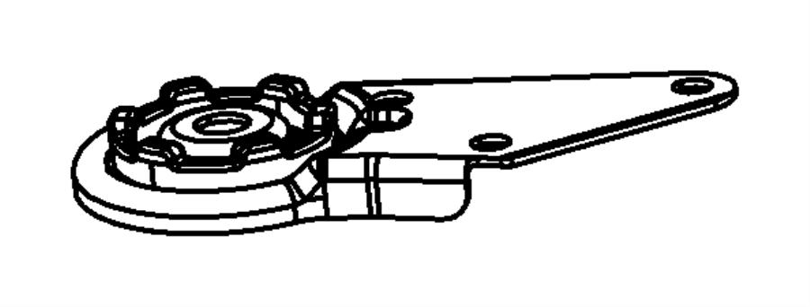 2008 Chrysler Sebring Bracket. Left. Crossmember. Toppower