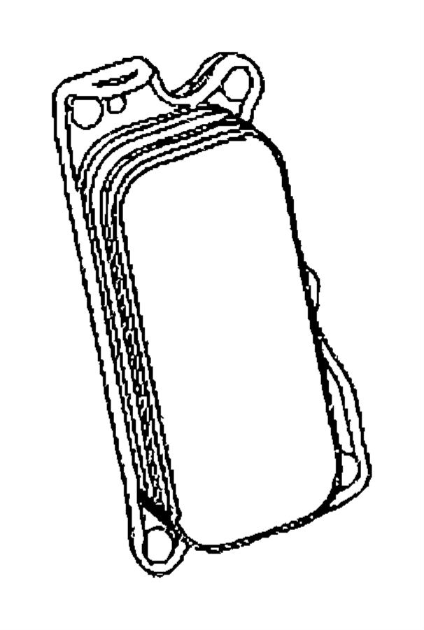 2007 Dodge Sprinter 2500 Filter. Oil. Cooler, engine