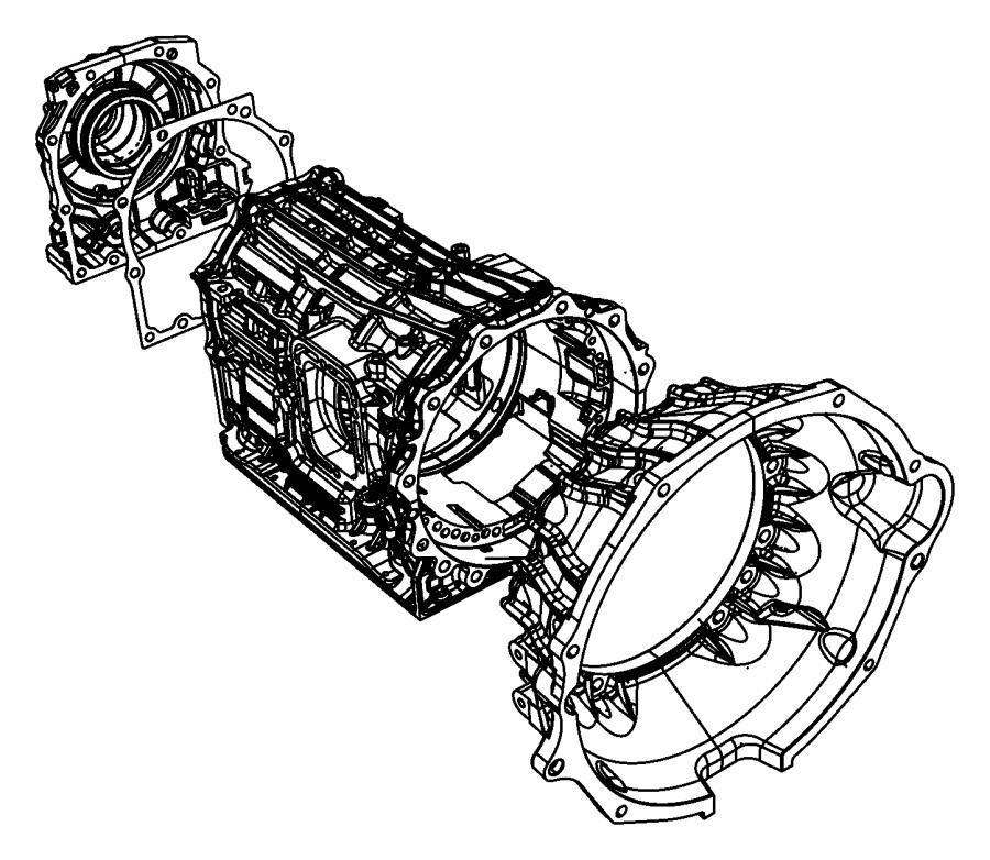 2009 Dodge Ram 3500 Overhaul. Transmission. Case