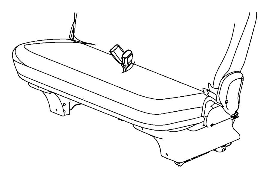 2009 Dodge Grand Caravan Seat belt. 2 passenger inner. [vs