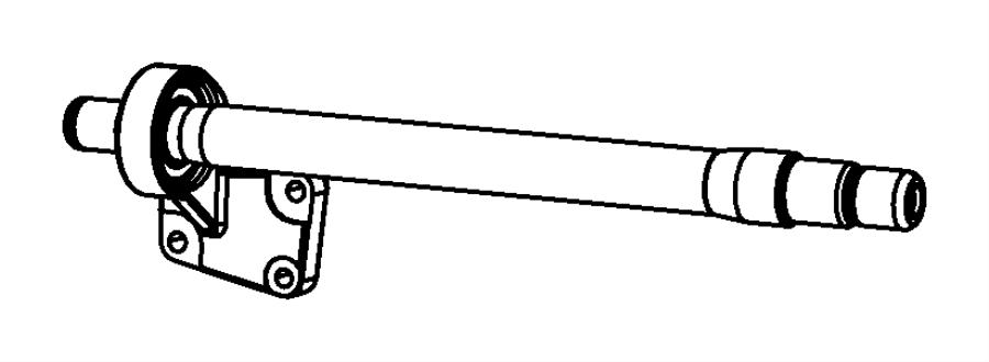 Dodge Grand Caravan Shaft. Intermediate. Shafts, front