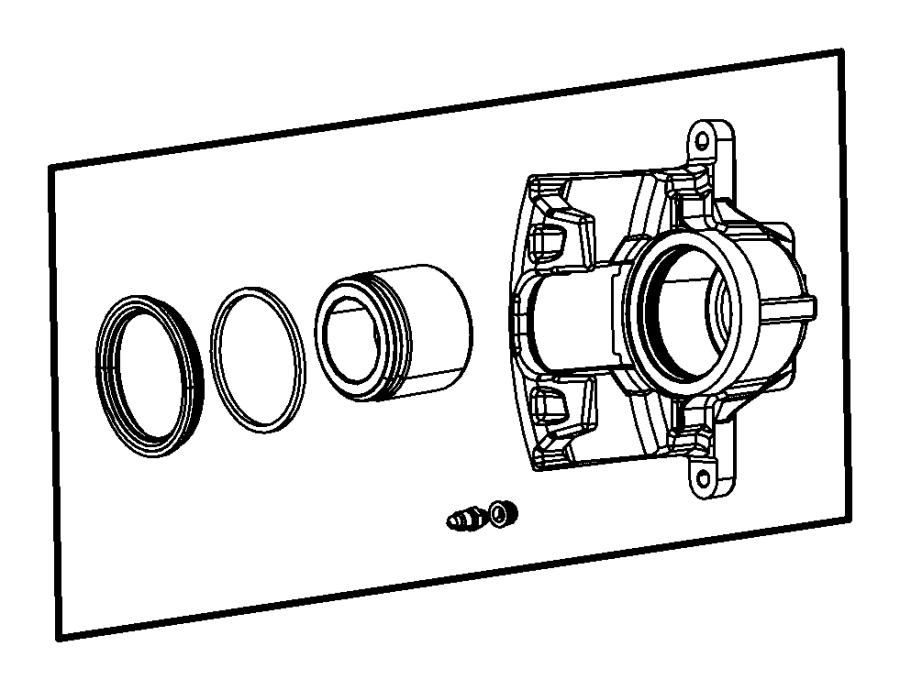 2014 Jeep Wrangler Caliper assembly. Disc brake. Front