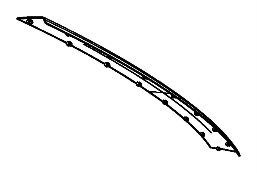 2008 Chrysler Town & Country Scuff pad. Rear fascia. [body