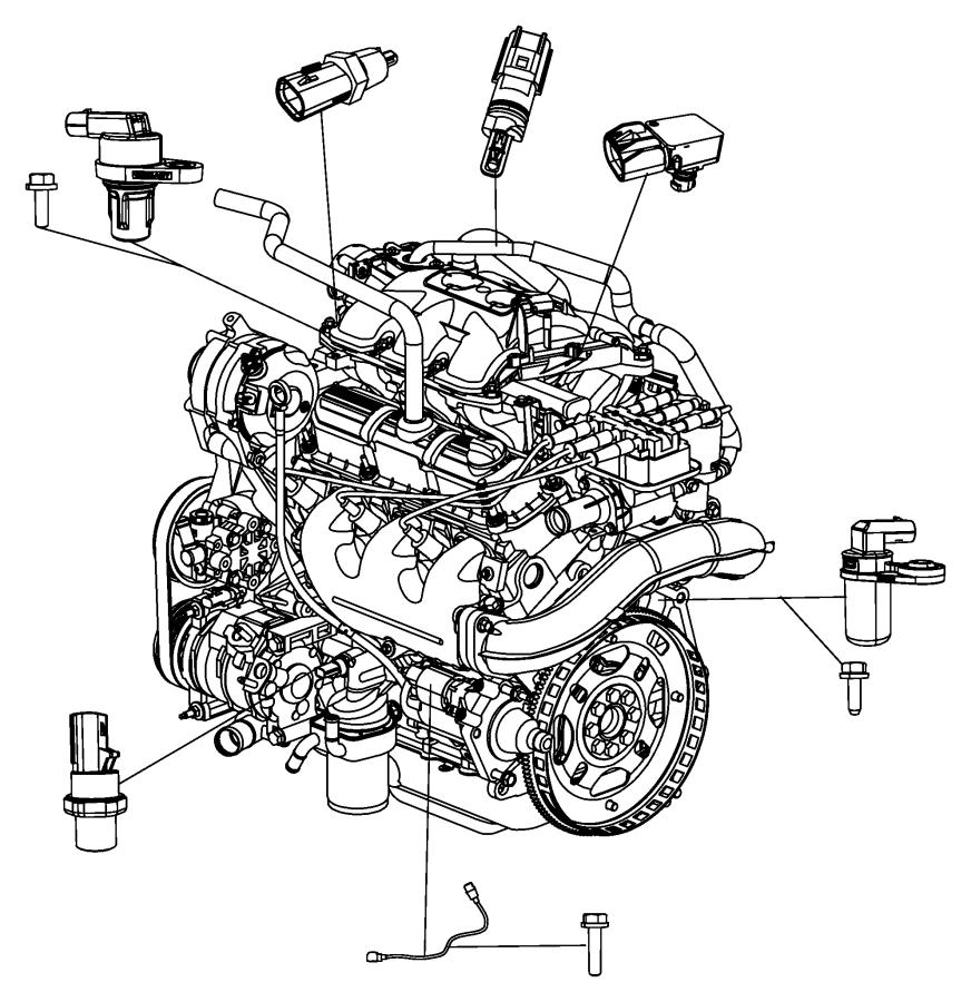 2010 Dodge Grand Caravan Sensor. Camshaft. Sensors, engine