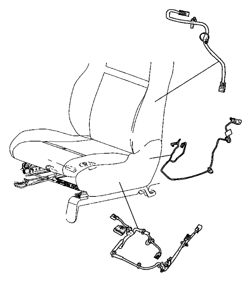 2008 Chrysler Town & Country Wiring. Power seat. Trim