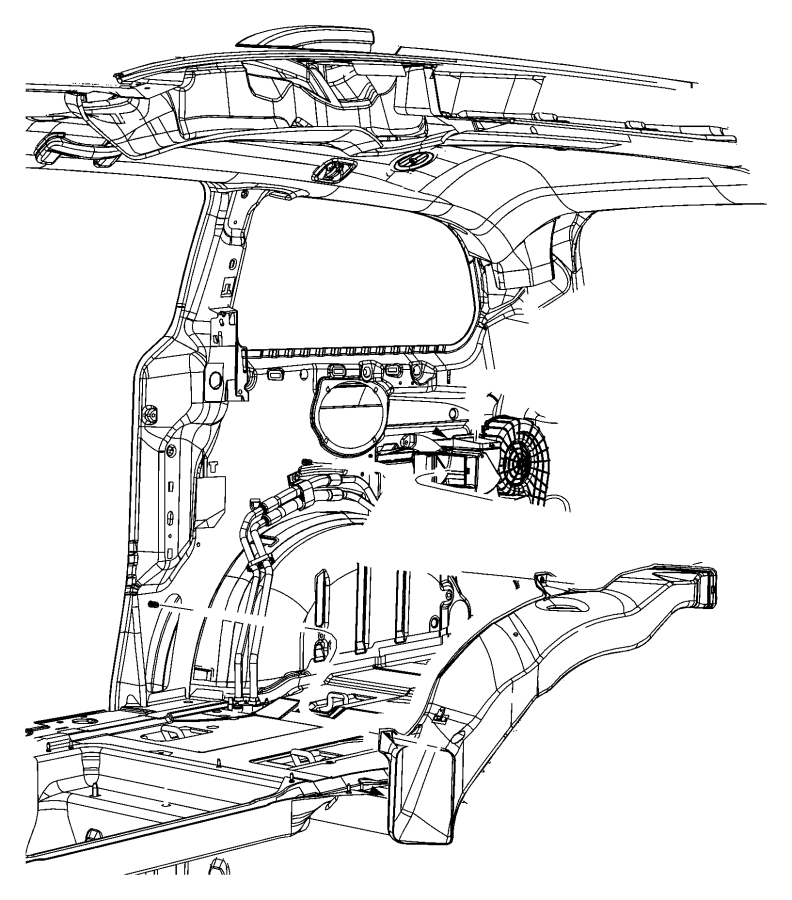 2009 Dodge Grand Caravan Duct. Heat distribution. Rear