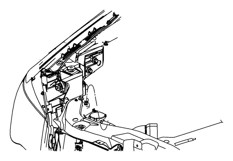 2008 Chrysler Sebring Grommet. Pivot joint. Hood